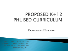 DepEd Proposed K+12 Curriculum_Fr. Dionisio Miranda