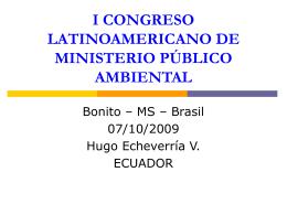I CONGRESO LATINOAMERICANO DE MINISTERIO …