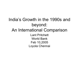 India's Growth in the 1990s and beyond: An International