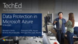 Data Protection in Microsoft Azure