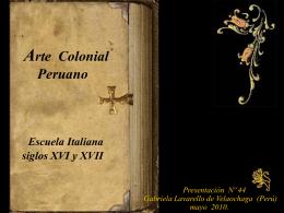 Arte colonial peruano, escuela italiana