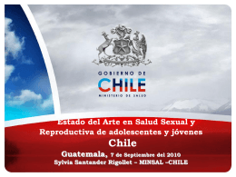 Estado del arte Salud sexual y reproductiva Chile