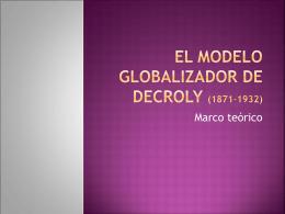 El modelo globalizador de Decroly