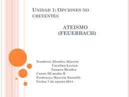 Unidad 1: Opciones no creyentes ATEISMO
