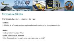 Transporte de Oficiales a Loreto