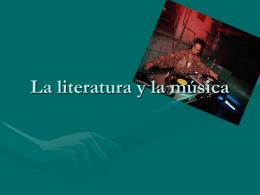 La literatura y la musica