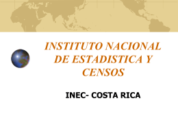 INSTITUTO NACIONAL DE ESTADISTICA Y CENSOS