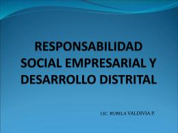 RESPONSABILIDAD SOCIAL EMPRESARIAL Y …