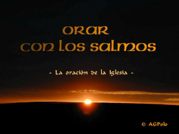 SALMO 139 - Liturgia de las Horas, Oficio Divino