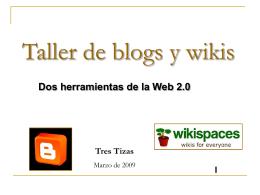 Usos educativos del blog y del wiki