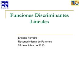 Discriminantes Lineales