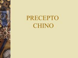 PRECEPTO CHINO - Capacitacion de personal