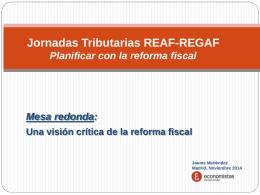 Mesa redonda: Ideas para la reforma del sistema fiscal …