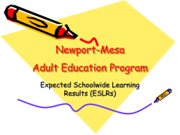 Newport-Mesa Adult Education Program