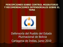 Resultados mesa trabajo migrantes