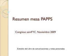 Resumen mesa PAPPS