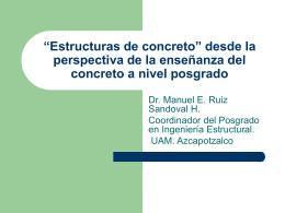 """Estructuras de concreto"""" desde la perspectiva de la"""