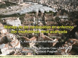 Mesa 3. La insuficiencia cardiaca en la insuficiencia