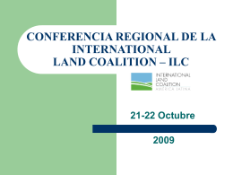 CONFERENCIA REGIONAL DE LA INTERNATIONAL LAND …