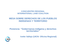 II ENCUENTRO REGIONAL INTERNATIONAL LAND …