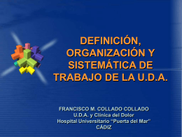 Diapositiva 1 - AreasTematicas.com: Dolor Postoperatorio