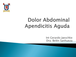 Dolor abdominal apendicitis aguda