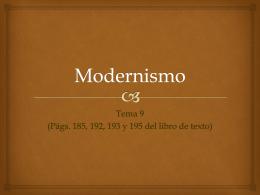Modernismo - De Lengua y Literatura