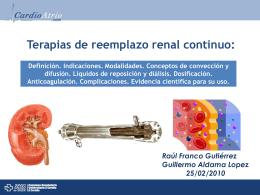 Terapias de reemplazo renal continuo