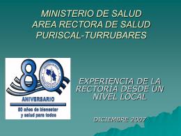 MINISTERIO DE SALUD AREA RECTORA DE SALUD …