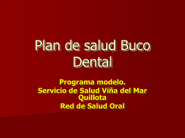 Plan nacional de salud Buco Dental