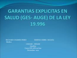 GARANTIAS EXPLICITAS EN SALUD (GES