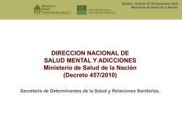 Diapositiva 1 - Ministerio de Salud de la Provincia de