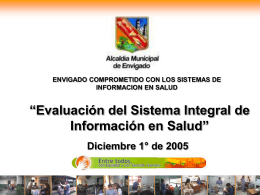 Sistemas de Informacion en Salud
