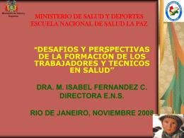 MINISTERIO DE SALUD Y DEPORTES ESCUELA NACIONAL …