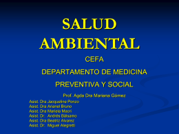 SALUD AMBIENTAL - Instituto de Higiene