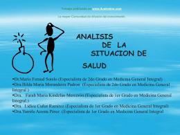 Monografias : Analisis de la situacion de salud