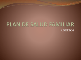 PLAN DE SALUD FAMILIAR