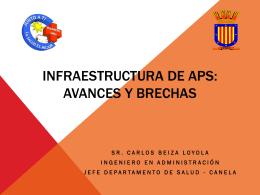 Infraestructura DE APS: Avances y brechas