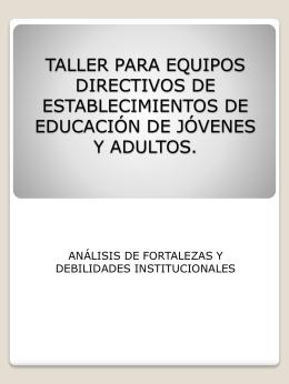 TALLER PARA EQUIPOS DIRECTIVOS DE …