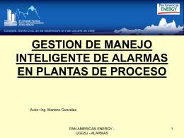 Alarmas en sistemas de control de plantas