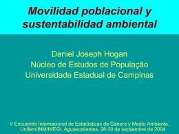 Movilidad poblacional y sustentabilidad ambiental