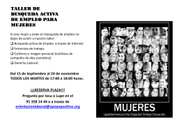 TALLER DE BUSQUEDA ACTIVA DE EMPLEO PARA MUJERES