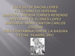 COLEGIO DE BACHILLERES 13 XOCHIMILCO