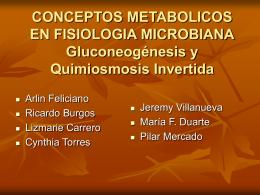CONCEPTOS METABOLICOS EN FISIOLOGIA MICROBIANA