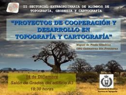 PROYECTOS DE COOPERACION Y DESARROLLO EN …