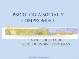 PSICOLOGOS SIN FRONTERAS: UNA EXPERIENCIA DE …