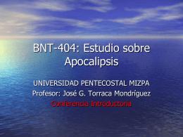 BNT-404: Estudio sobre Apocalipsis
