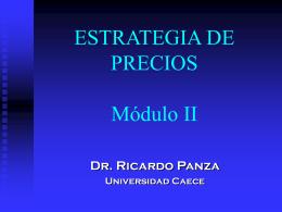 ESTRATEGIA DE PRECIOS Tramo II