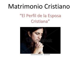 Matrimonio Cristiano - | La Iglesia de Cristo