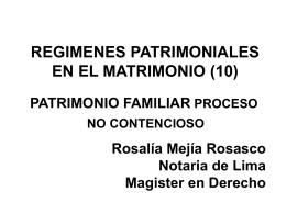 PATRIMONIO FAMILIAR